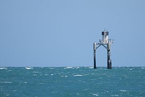 Beacon - A navigational beacon denoting the presence of Orontes Bank off Port Vincent, South Australia.
