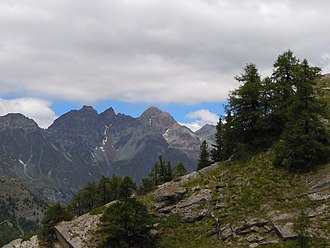 Becca di Luseney - The Becca di Luseney summit (third mountain from left)