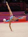 Belarus Rhythmic gymnastics team 2012 Summer Olympics 09 (cropped).jpg