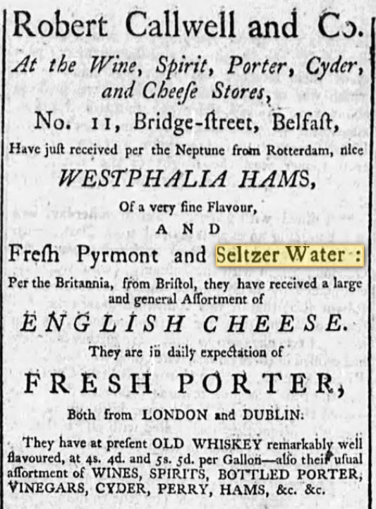 Belfast Evening Post, August 7, 1786
