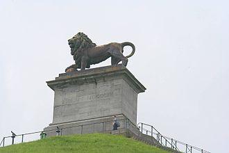 Braine-l'Alleud - Image: Belgium Waterloo Butte du Lion statue