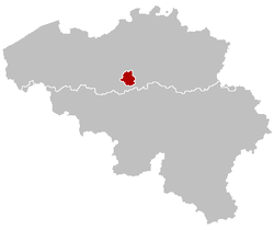 Position der Region Brüssel-Hauptstadt in Belgien