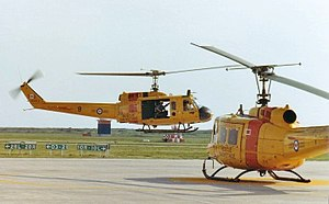 CFB Chatham - Base Rescue Moose Jaw CH-118 Iroquois helicopters at CFB Moose Jaw, 1982. Aircraft of this type performed the same role at CFB Chatham.