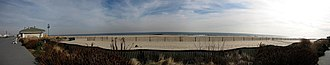 Belmar, New Jersey - Panorama of Belmar's beach from 9th Ave. and Ocean Ave.