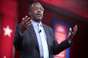 Ben Carson presidential campaign, 2016 - Carson speaking at the 2015 Conservative Political Action Conference (CPAC) in National Harbor, Maryland, on February 26, 2015.
