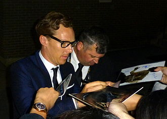 The Imitation Game - Cumberbatch signing autographs at the Toronto International Film Festival, September 2014