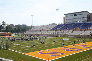 Charlie W. Johnson Stadium - Image: Benedict Football
