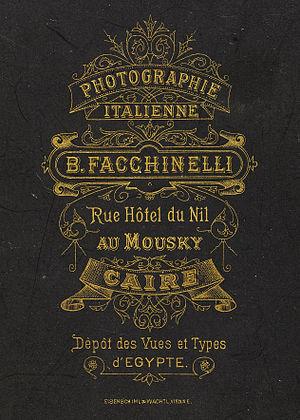 Beniamino Facchinelli - cabinet card verso