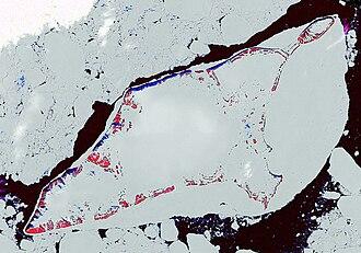 Bennett Island - Bennett Island in NASA Landsat image