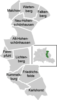 District map of Lichtenberg