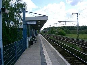 Bernau-Friedenstal station - Image: Bernau bei Berlin Bahnhof Friedenstal Platform