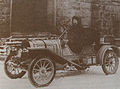 Bernice Haynes driving a Haynes Company runabout-car in 1910.jpg