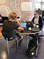Bert Spaan (left) and Matt Miller at the Wikimania 2019 hackathon.jpg