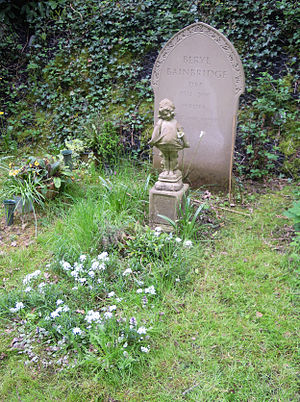 Beryl Bainbridge - Bainbridge's grave in Highgate Cemetery