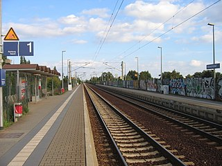 railway station in Spandau, Germany