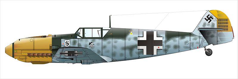 Messerschmitt Bf 109-E del as de la aviación alemana Adolf Galland.
