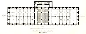 Sainte-Geneviève Library - Image: Bibliothek Sainte Geneviève ground floor plan