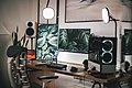 Black Flat Screen Computer Monitor on White Wooden Desk.jpg