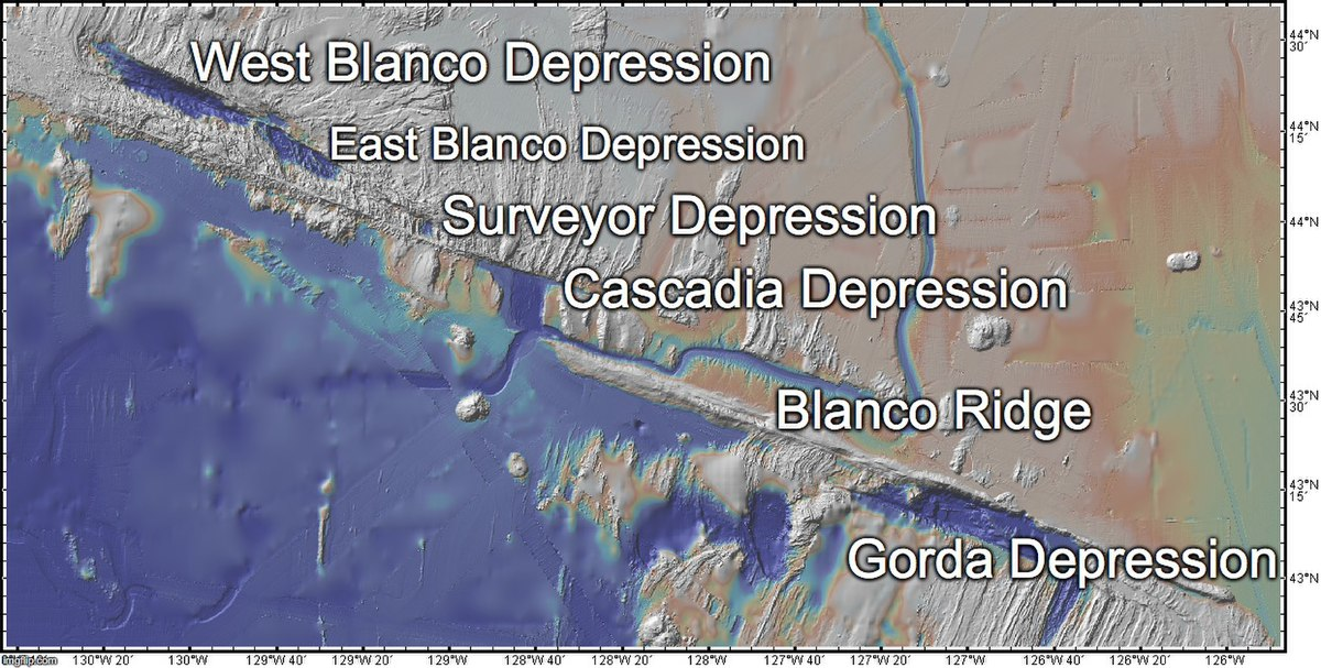 Map of the Blanco Fault Zone