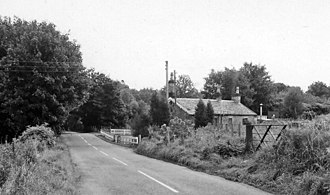 Blanefield - The remains of Blanefield railway station in 1974