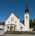Bleiburg Pfarrkirche hll Peter und Paul Westwand mit Vorhalle 21092015 7707.jpg