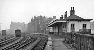 Bo'ness railway station - Remains of the original Bo'ness station in 1961