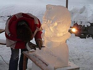 Bodenmais - Eisskulptur (Bodenmais - ice sculp...