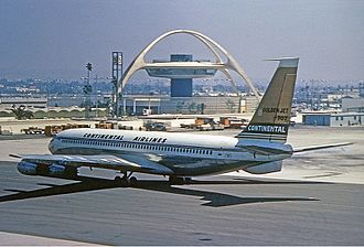 Continental Airlines - Boeing 707 at Los Angeles, 1967