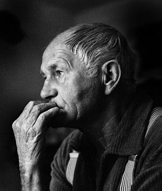 Bohumil Hrabal - Portrait of Bohumil Hrabal taken in 1988 by Hana Hamplová