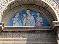 Bolsena, s. cristina, ext., lunetta di benedetto buglioni, madonna col bambino tra s. cristina e s. giorgio.JPG