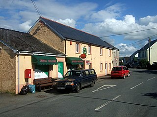Boncath village in United Kingdom