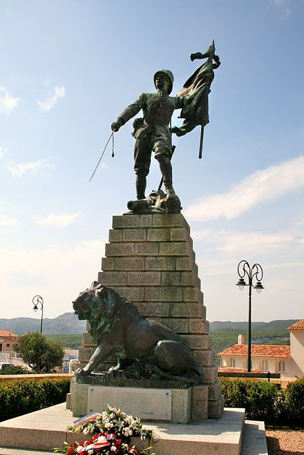 Monument in Bonifacio commemorating the soldiers of the French Foreign Legion killed on duty for France during the South-oranais campaign (1897-1902) Bonifacio Legion JPG1.jpg