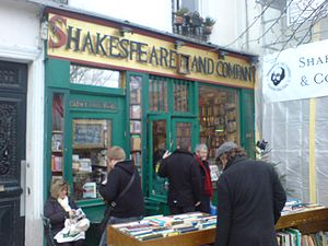 English: The 'Shakespeare and Company' booksho...