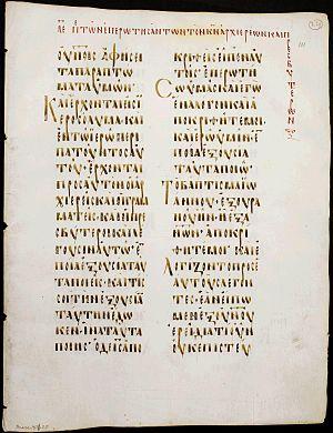 Codex Boreelianus - Folio 111 recto