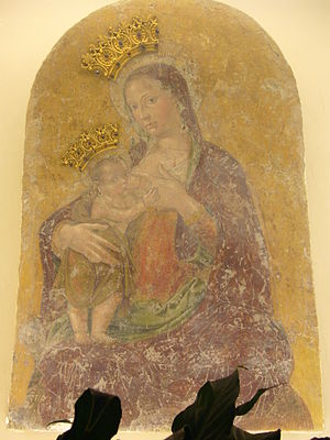 Santa Maria Annunziata in Borgo - Virgin of the Milk with the Child, fresco attributed to Antoniazzo Romano