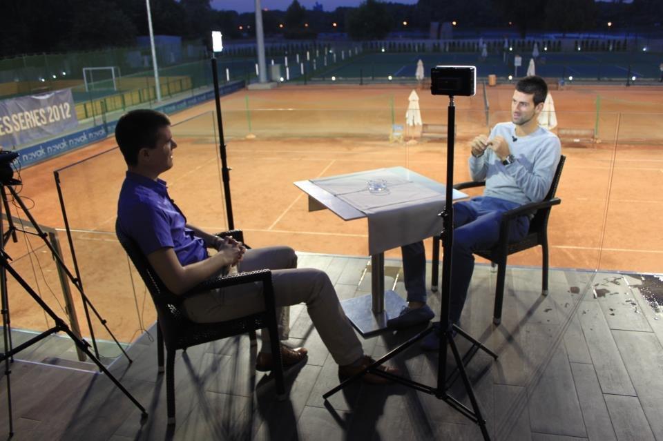 Boris Malagurski with Novak Djokovic