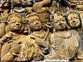 Borobudur - Lalitavistara - 012 E, The Bodhisattva descends to Earth accompanied by the Gods (detail 2) (11247884466).jpg