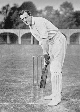 Bernard Bosanquet (cricketer) - Bosanquet's batting stance, photographed by George Beldam in 1905