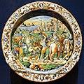 Bottega di orazio fontana, piatto con clemenza di giulio cesare, urbino 1580 ca.jpg