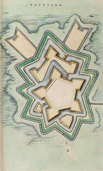 Fort Bourtange - Image: Bourtange Bovrtang (Atlas van Loon)