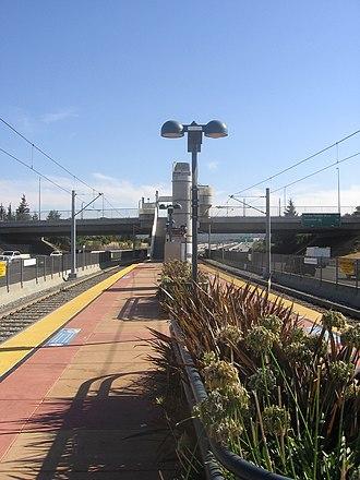 Branham station - Branham Station platform, 2012