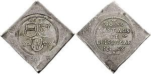 Klippe (coin) - Image: Breisach Batzen 1633 789272