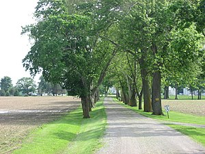 National Register of Historic Places listings in Marion County, Ohio - Image: Bretz Farm driveway