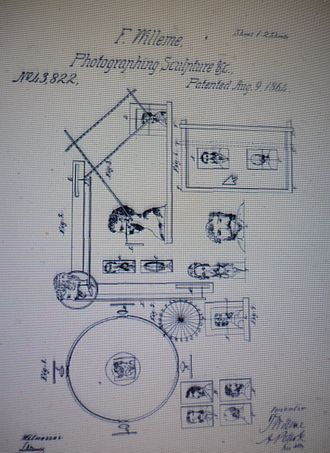 Photo sculpture - Diagram from the U.S. patent application