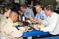 Brian Williams on board USS Tarawa, March 13, 2003.jpg