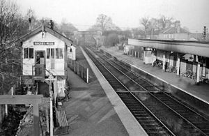 Abbey Line - The old passing loop at Bricket Wood, proposed for re-opening to increase services