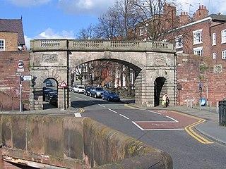 Bridgegate, Chester Grade I listed arch bridge in the United Kingdom