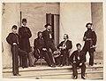 Brigadier General Gustavus A. DeRussy and Staff on Steps of Arlington House, Arlington, Virginia MET DP237335.jpg