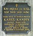 Brno-Bystrc kříž (nápis).JPG