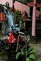 Bronze Kitsune Fountain at Fushimi Inari (2616216600).jpg